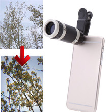 New Universal 8x Zoom Telescope Camera Lens Clip For iphone6 7plus Telephoto Lens Optical for samsung HTC LG xiaomi Mobile Phone