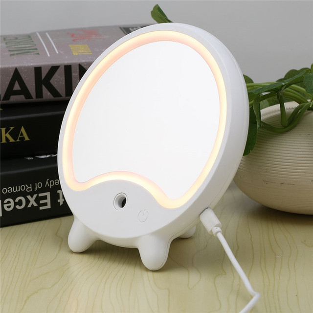 Makeup Mirror Air Humidifier Cosmetic Desk Tabletop Mirror With LED Natural  Light And Mist Facial Sprayer