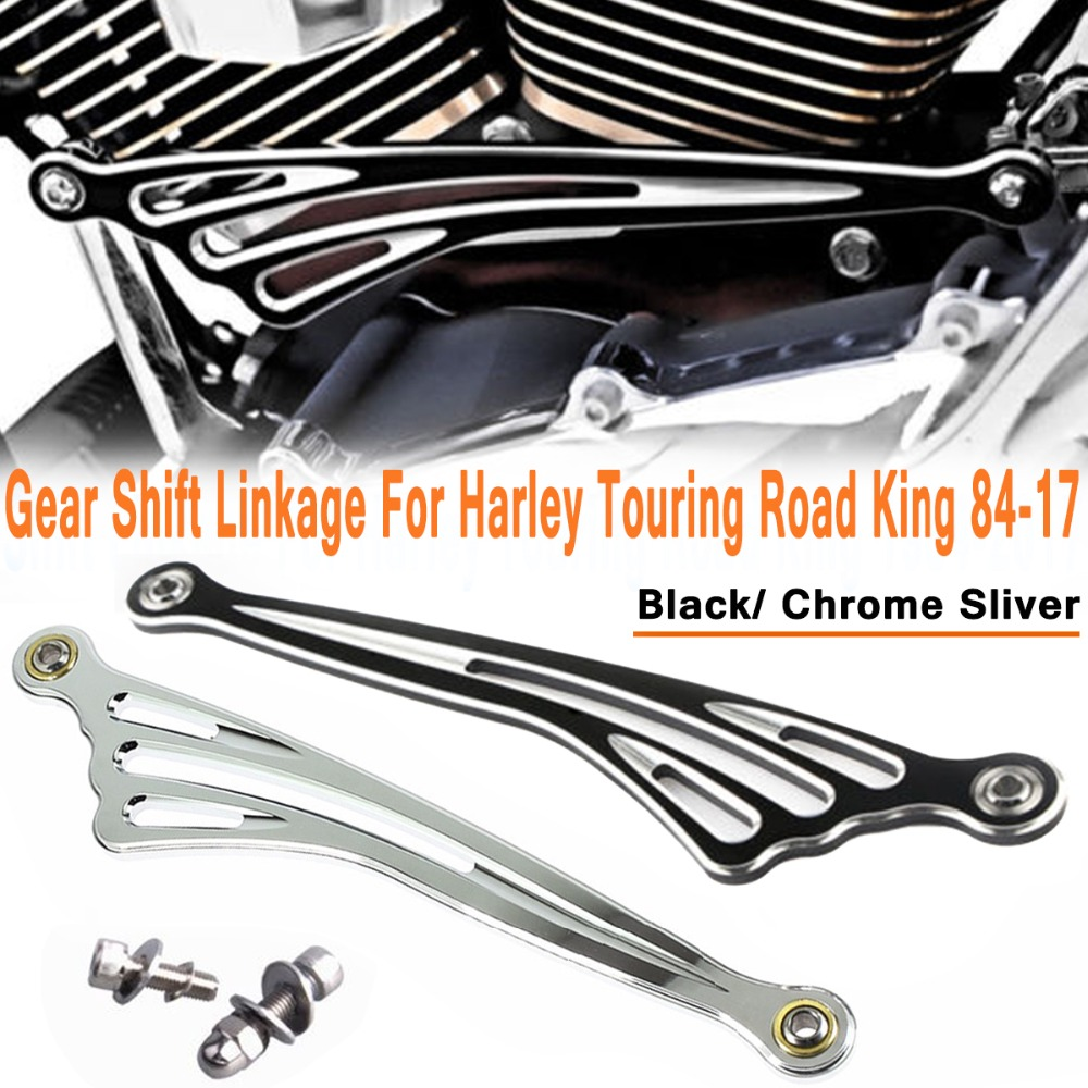 CNC Black Gear Shift Lever Wing Shift Linkage for Harley Touring Road King 1984-2017  Motorcycle Shift LinkageCNC Black Gear Shift Lever Wing Shift Linkage for Harley Touring Road King 1984-2017  Motorcycle Shift Linkage