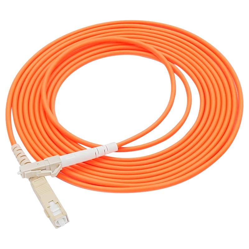 SC/UPC-LC/UPC Simplex MM Fiber Optical Patch Cord Multimode OM1 62.5/125um Fibre Channel Cable 3.0mm