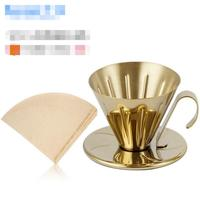 Hot Selling Newest Stainless Steel Coffee Filter Cup Hand made Coffee Pot Filter 40 Sheets of Filter Paper Cups and Mugs