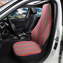 Universal Stripe Colorful Front Seat Covers