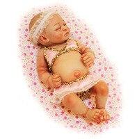 Реалистичные 26 см Одна Деталь Девушка Силиконовые Кукла Reborn реалистичные Lifelike Reborn мини кукла живые Brinquedos Juguetes Игрушечные лошадки