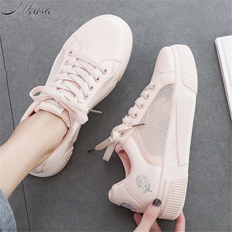 Mhysa 2019 Summer new fashion ladies mesh sneakers wild Korean version of comfortable breathable casual low-cut sneakers M 69