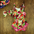 Verão Bonito Do Bebê floral Roupas Bebês Recém-nascidos Rompers Jumpsuit Confortável Desgaste Do Bebê, Roupa Do Bebê Recém-nascido