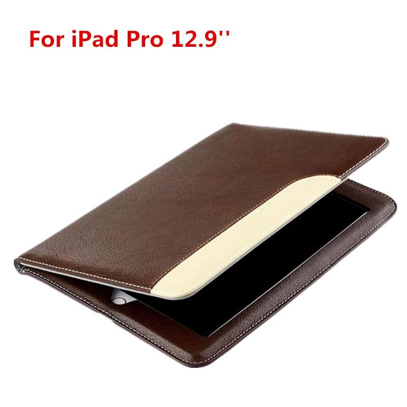 DIR-маоса для iPad Pro 12.9 случае Роскошные кожаные Smart Cover ультра тонкий Тонкий Стенд кожи рук владельца мягкой руки ремень удобной переноски
