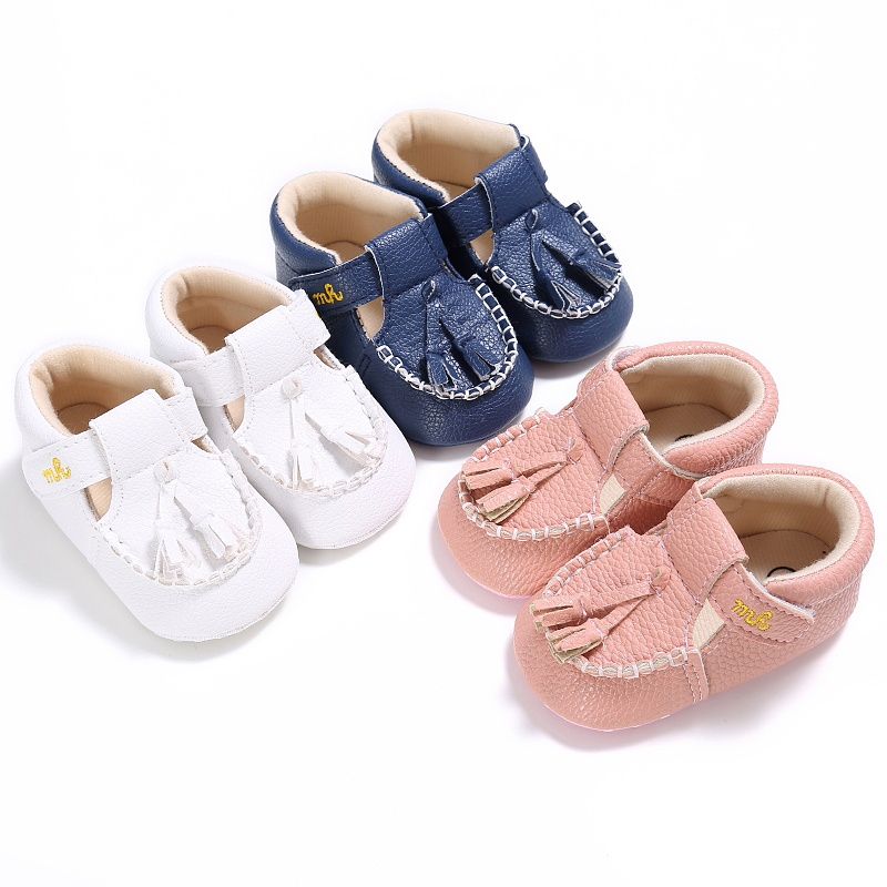 2018 0-18 Months Baby PU Leather Tassel Crib Shoes Toddler Boy Girl Soft Sole Shoes New