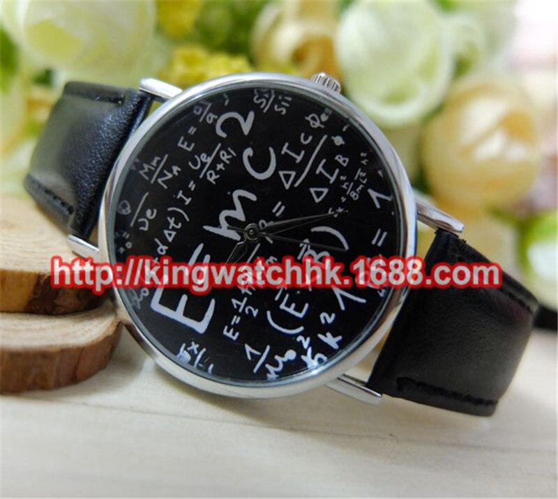 100pcs lot Men s Women s Numerals Mathematical Symbol Faux Leather Band Quartz Wrist font b