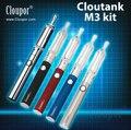 Original cloupor cloutank m3 kit 2in1starter kit china cigarrillo electrónico hierba seca y cera vaporizador pluma envío gratis