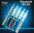 Original cloupor cloutank m3 kit 2in1starter kit electronic cigarette china dry herb&wax vaporizer pen free shipping