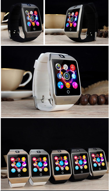 MOCRUX Bluetooth montre intelligente Smartwatch Q18 appel Relogio 2G GSM SIM TF carte caméra pour iOSAndroid PhonePK DZ09 A1 (121)
