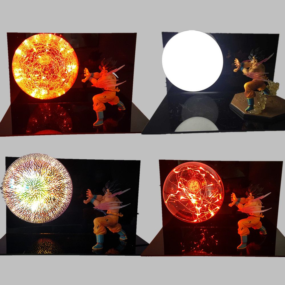 Dragon Ball Z Goku Kaiouken Led Light Super Saiyan Action Figures Anime Dragon Ball Super DBZ Son Goku Lamp Jiren Vegeta dragon ball z action figures son goku vs evil vegeta super saiyan anime dragon ball light model toy dbz bulb base