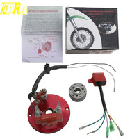 Red Racing Magneto Stator Rotor CDI Fit 110 125 140cc Engine Lifan Dirt Pit Bike
