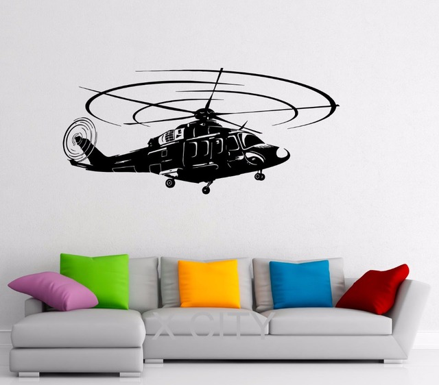 Airforce Helicopter Stickers Military Decals Vinyl Office Home Interior Design Art Murals Living Room Bedroom Wall