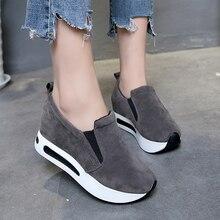 2019 Women Vulcanized Shoes Wedge Platfo