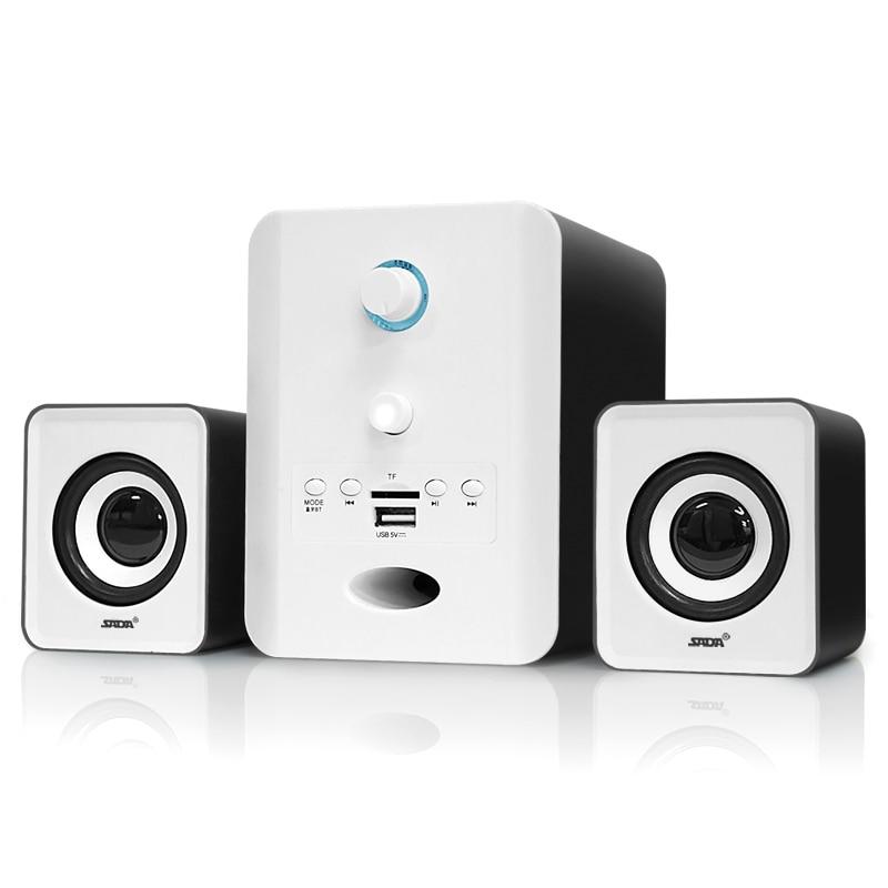 SADA filaire 2.1 Bluetooth combinaison haut-parleur stéréo adapté bureau ordinateur portable haut-parleur PC ordinateur portable TF/FM/U disque