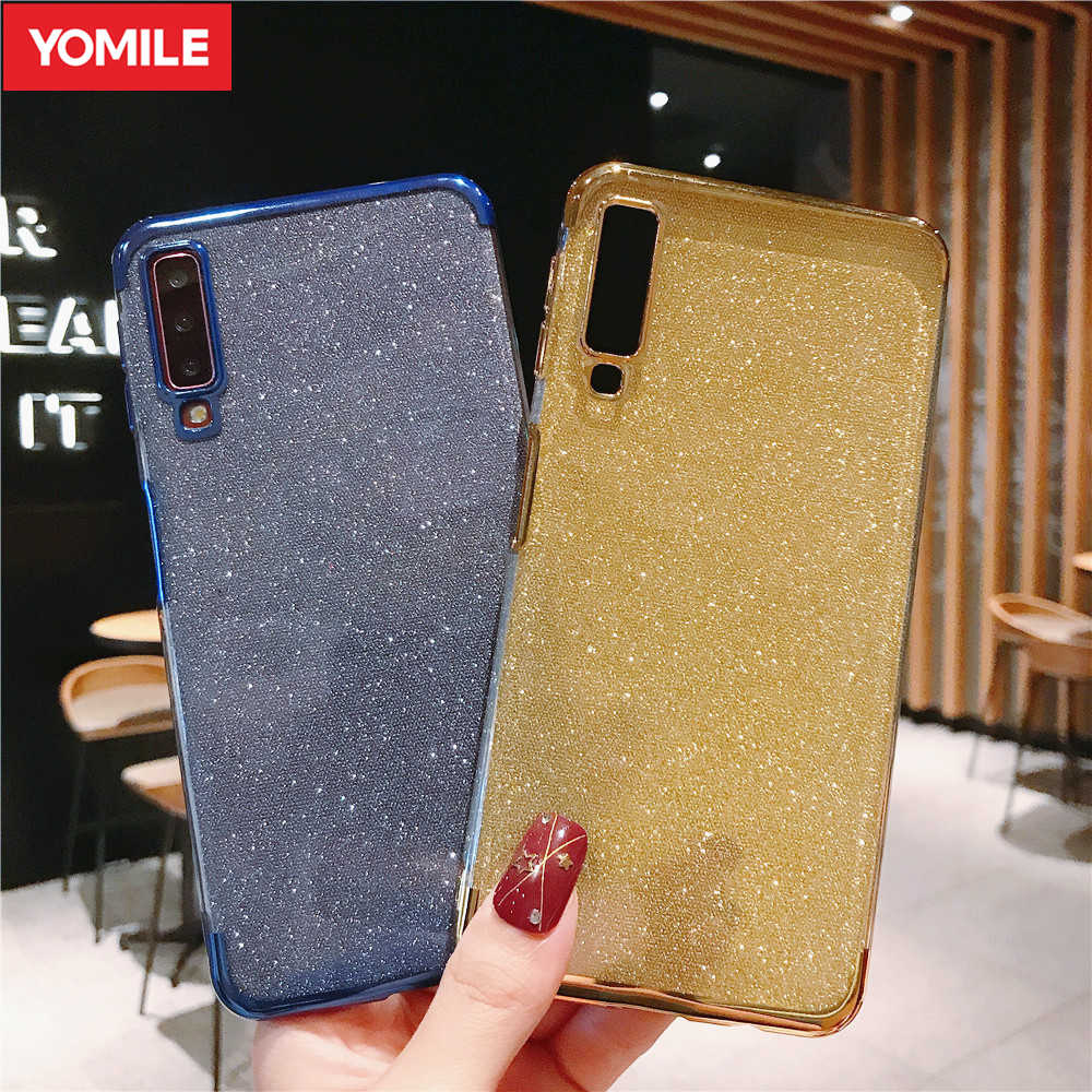 Glitter Bling Silicone Case For Samsung Galaxy M10 M20 M30 A40S A10 A20 A70 A50 A80 A90 A60 A20E A40 2019 Note 8 9 Plating Cover