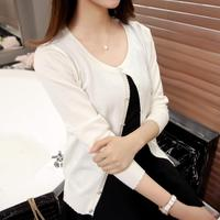 3075 2016 Korean Version Of The New Spring And Summer Dress Sweater Cardigan 27
