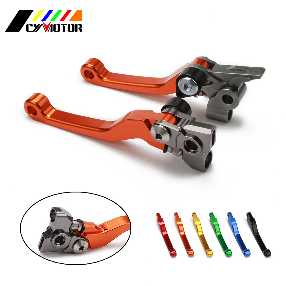 Motorcycle CNC Pivot Brake Clutch Levers For KTM SX XC XCW EXC EXCF XCFW SXF SXR EXCR 125 144 150 200 250 300 350 450 500 cnc adjustable motorcycle billet foldable pivot extendable clutch