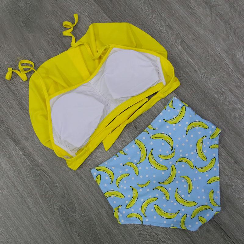 Bikini Set Double Ruffle Swimwear