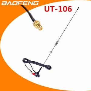 2pcs Baofeng walkie talkie antena NAGOYA UT-106UV SMA-F DIAMANTE UT106 para Radioamador BAOFENG82 BF-888S 5R UV-5RE antena lon