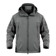 XS-5XL для альпинизма велоспорта на открытом воздухе Водонепроницаемый теплое пальто с капюшоном Мужские Спортивные Пеший Туризм ветрозащитный Термальность дышащая армейская куртка
