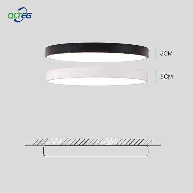 """QLTEG גופי קישוט דק מודרני LED תקרת תקרת אור מנורת תקרת סלון חדר השינה 5 ס""""מ גבוהה"""