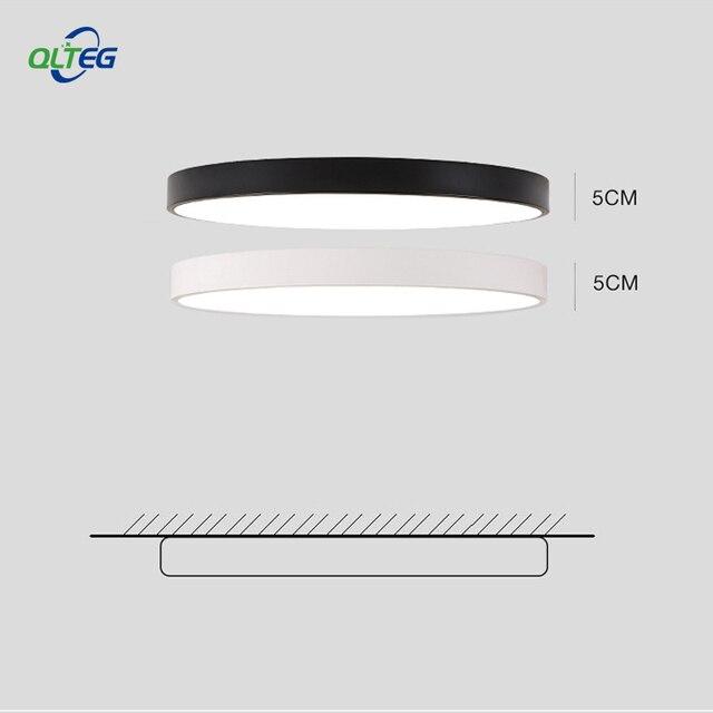 QLTEG رقيقة جدا سقف ليد حديث ضوء زينة للسقف تركيبات غرفة نوم مصباح سقفي لغرفة المعيشة 5 سنتيمتر عالية