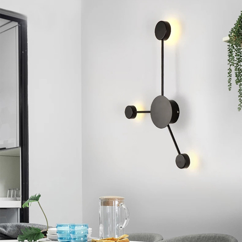 Image 4 - Postmodern wall lamp simple led living room wall lamp bedroom bedside creative aisle hotel exhibition hall corridor lighting-in LED Indoor Wall Lamps from Lights & Lighting
