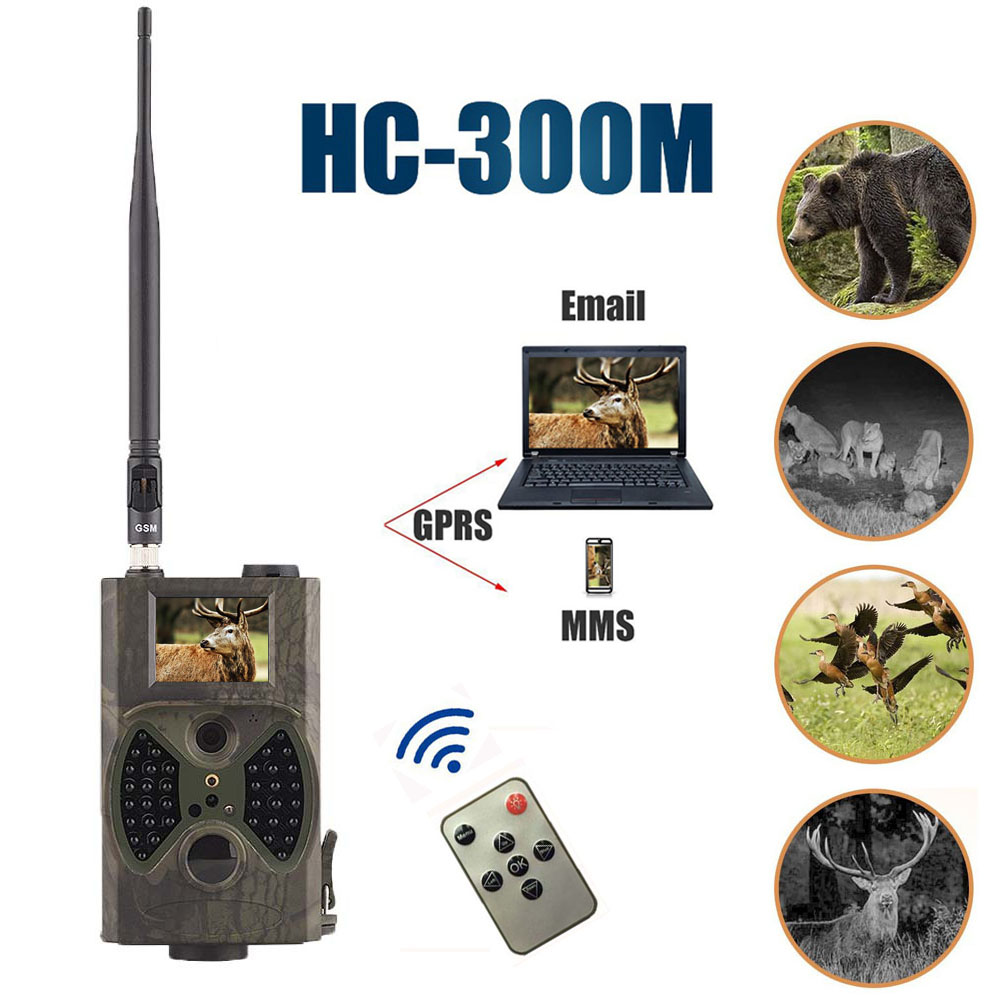 940NM scouting hunting camera HC300M New HD 1080P GPRS MMS Digital Infrared Trail Camera GSM 2.0' LCD IR Hunter Cam digital 940nm hunting camera invisible infrared 12mp scouting trail camera 2 4 lcd hunter cam s660