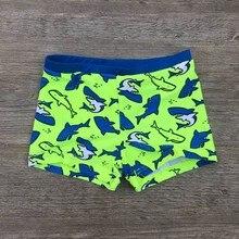 Kid Children Boys Shark Print Swimming Trunks Shorts Stretch Beach Swimsuit Swimwear Pants Sports Bo