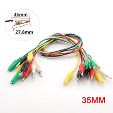 1/5/10 Pcs Alligator Clips Wire Double-ended Crocodile Test Jumper Electrical DIY Roach Leads