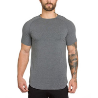 Brand gyms clothing fitness t shirt men fashion extend hip hop summer short sleeve t-shirt cotton bodybuilding muscle tshirt man 1