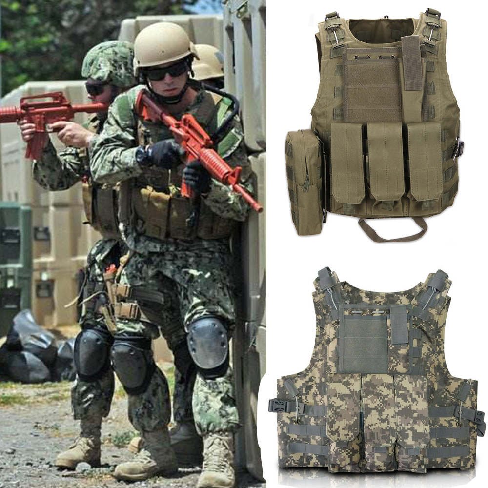 New 2017 Hunting Military Airsoft MOLLE Nylon Combat Paintball Tactical Vest Outdoor Products Live CS outdoor vest Free Shipping sports safety airsoft competitive cobar 1 75inch inner belt nylon support hunting pistol edc waist with free shipping