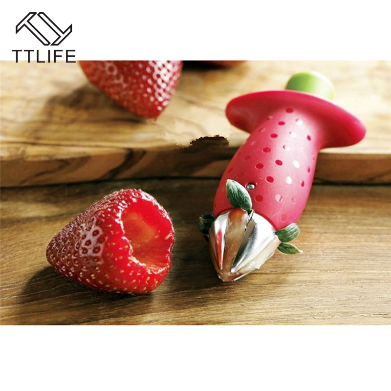 TTTLIFE Omato Strawberry Stalks Dig Nuclear Device Creative Kitchen Tools  Fruit Dig Nuclear Device Kitchen Accessories Gadgets In Strawberry Hullers  From ...