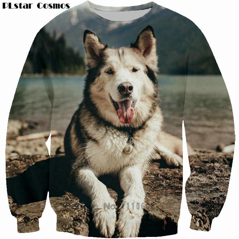 PLstar Cosmos 3D Print Huskydog kids sweatshirt Men Women long sleeve jumper outfits Vintage tops Plus S-5XL