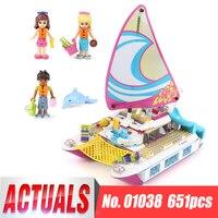 Lepin 01038 Friends Girl Series 651pcs Building Blocks Toys Sunshine Catamaran Kids Bricks Toy Girl Gifts
