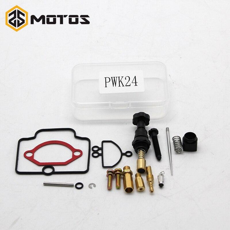 ZS MOTOS Moto Pièces 24 26 28 30 32 34mm PWK KEIHIN Moto Carburateur De Réparation Universel Kit De Rechange Jets un ensemble Un Paquet