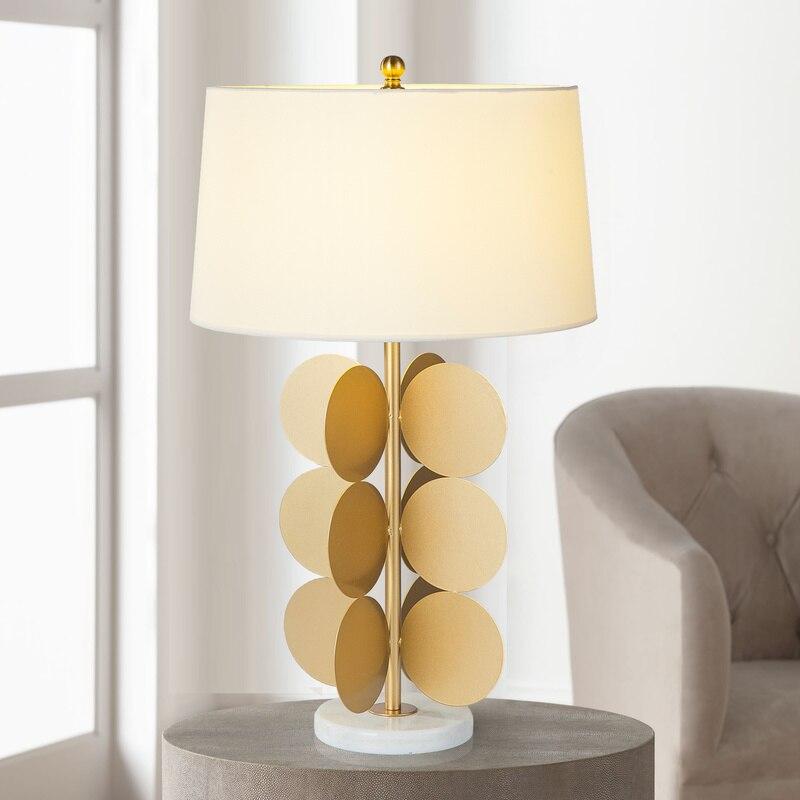 Moderna lámpara de mesa minimalista de mármol, de metal, con personalidad nórdica, creativa, para sala de estar, dormitorio, cabecera, lámpara de mesa LW523441PY