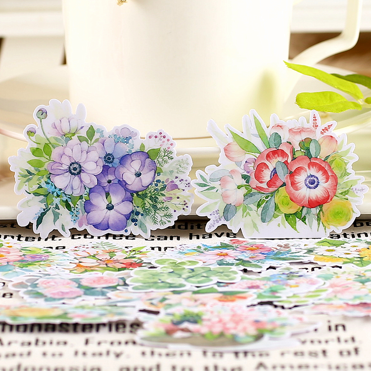 20pcs Creative Cute Kawaii Self-made Fang Fei Flowers Stickers Scrapbooking Diary /decorative Stickers/DIY Craft Photo Albums