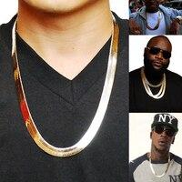 Брендовое ожерелье длинное/чокер оптом 10 мм винтажное повседневное Золото Цвет хип-хоп цепь для мужчин ювелирные изделия, массивное ожерел...