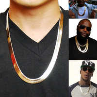 Brand Necklace Long/Choker Wholesale 10MM Vintage Casual Gold Color Hip Hop Chain For Men Jewelry Maxi Necklace