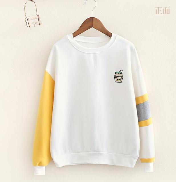 Clothing japonés departamento de otoño e invierno femenina versión coreana de la afluencia de estudiantes 2016 sudaderas mujeres