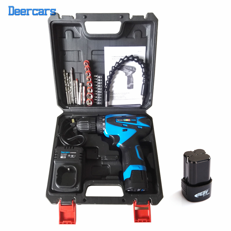 16.8v Cordless Drill DIY Electrical Drill Lithium Screwdriver Electrical Drilling Tool Two Battery Drill Bit Plastic Case Combo pegasi snake drill bit extender extends reach up to 12 inches with ratchet tool circular screw driver heads for electrical diy