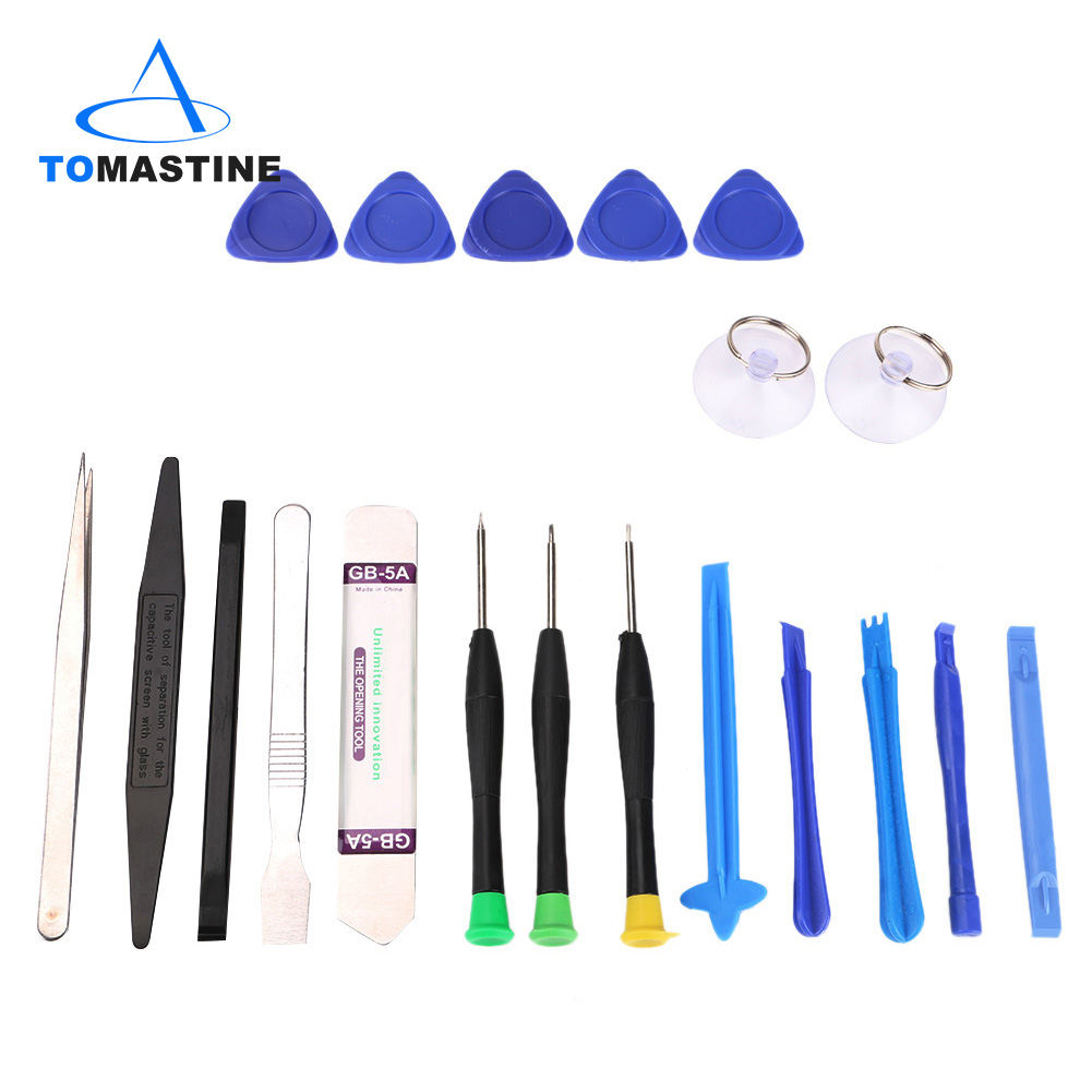 20Pcs Phone Repair Tool Kit Metal Pry Bar Mobile Phone Disassemble Tools Kit For IPhone Samsung PC DIY Hand Tools Set