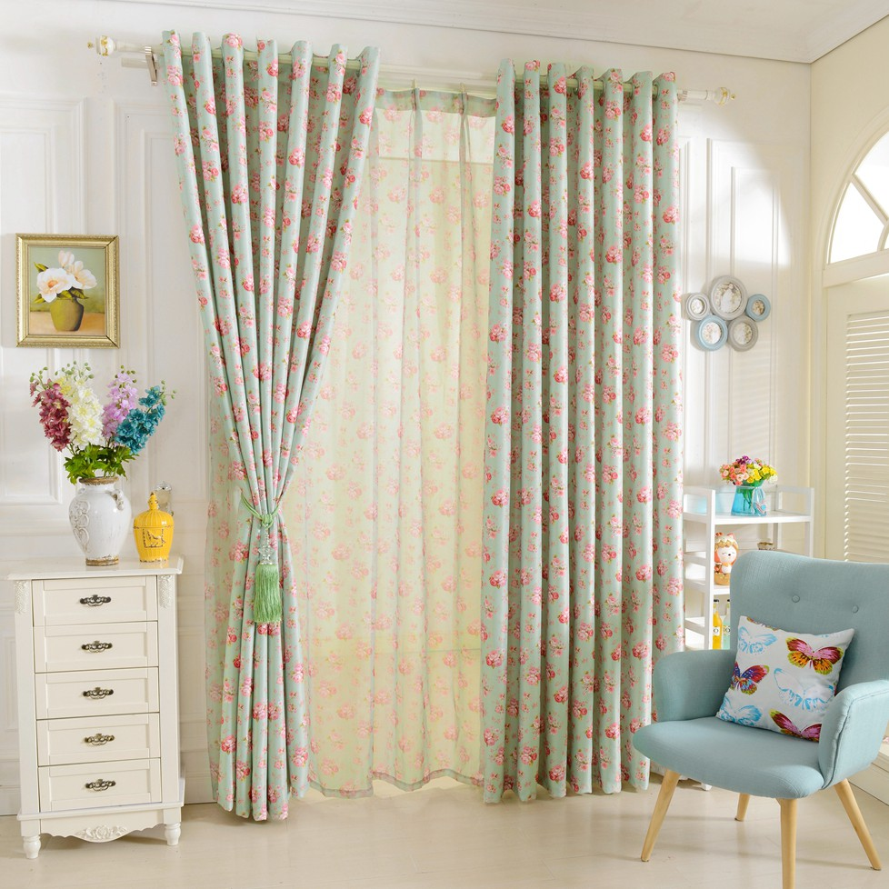Aliexpress.com : Buy Short Window Curtains For Bedroom Window Treatments  Drapery Floral Design Rustic Blackout Curtains Tulle Curtains Girlu0027s  Bedroom From ...  Short Blackout Curtains