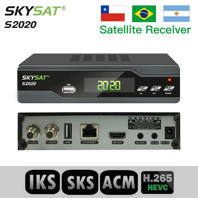 US $56 3 |The Best SKYSAT S2020 Twin Tuner IKS SKS VOD ACM IPTV M3U Xtream  code H 265 Satellite Receiver stable server for South America-in Satellite