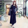 Newest Hot Selling Pregnant Women Fashion Cotton Full Seelve Long Summer  Dress Maternity O-Neck Beach  Ankle-Length Dress