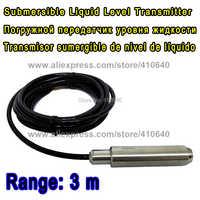 Range 3 Meter with 4m Cable Submersible Liquid Level Transmitter Level Transducer Input Type Level Sensor Other Range is ok