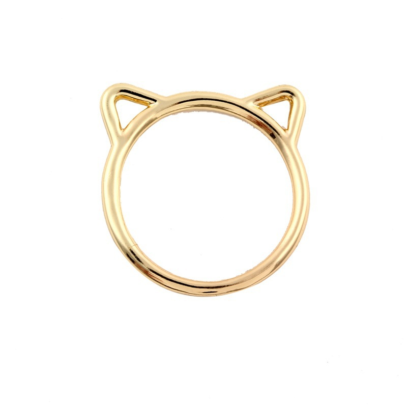Gold Plated Cat Ear Ring